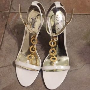 Guess by Marciano white/gold high heel shoes